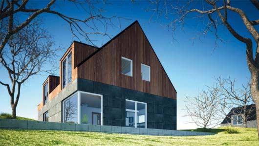 haus verkleiden mit holz haus mit holzfassade m in holz. Black Bedroom Furniture Sets. Home Design Ideas